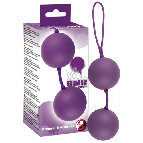 XXL Balls - obrovské gejša guličky (fialové)