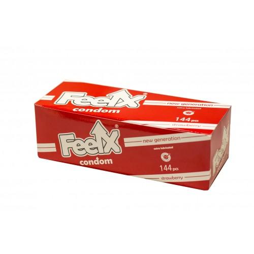 FeelX kondóm - jahody (144 ks)
