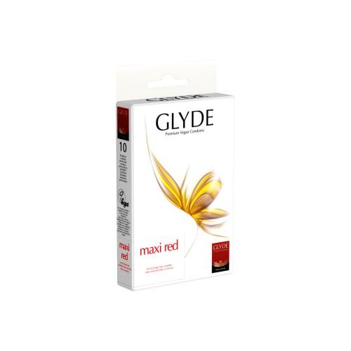 GLYDE Premium Vegan Condoms - Maxi Red (10pcs)