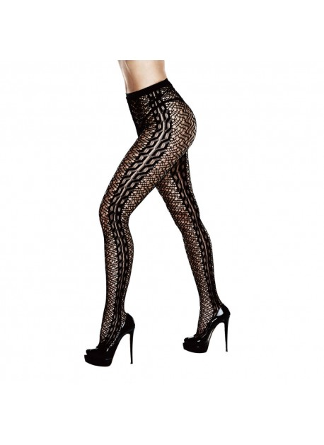 BACI - BRAIDED JACQUARD PANTYHOSE QUEEN SIZE