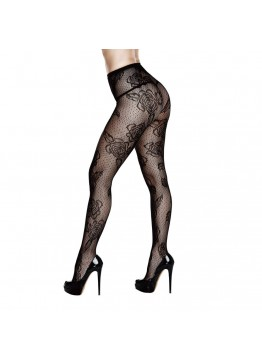 BACI - ROSE FLORAL LACE PANTYHOSE QUEEN SIZE