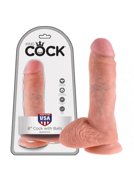 King Cock - realistické dildo so semenníkmi 20,3cm