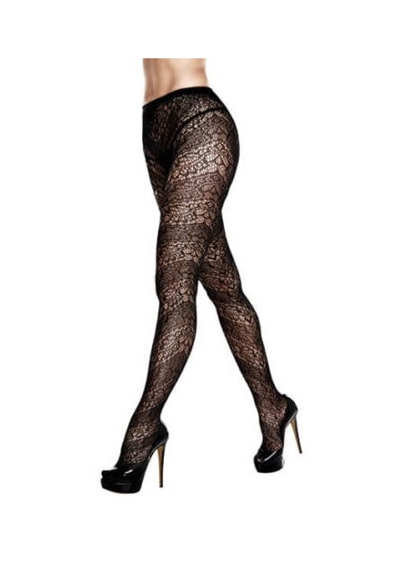 BACI - FLORAL LACE PANTYHOSE QUEEN SIZE