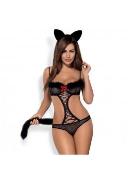 OBSESSIVE GEPARDINA - Mačací kostým, čierny set