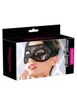 Cottelli - Čipkovaná maska na oči, čierna