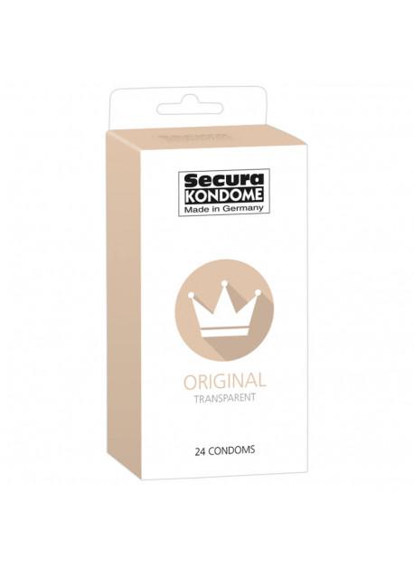 SECURA ORIGINAL - Transparentné kondómy (24 ks)