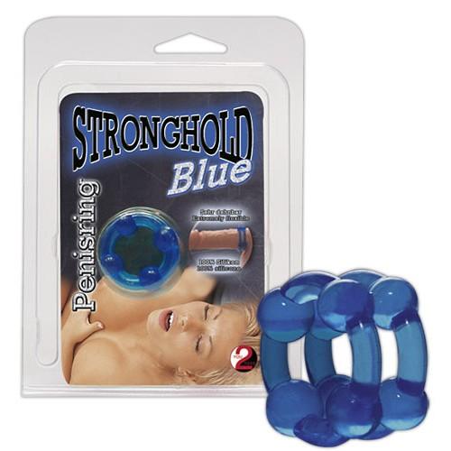 Želatínový erotický prsteň - modrý