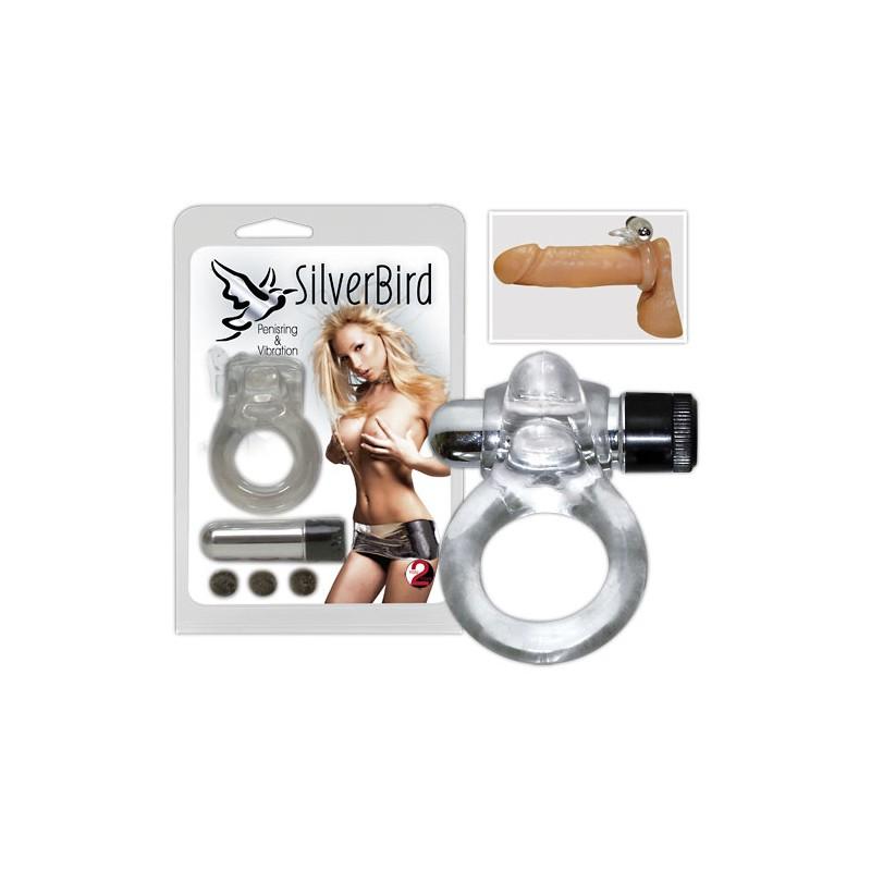 Strieborný vták - vibračný krúžok