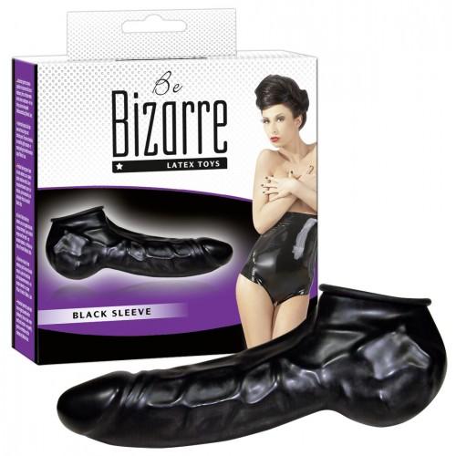 Latexový návlek na penis a semenníky (čierny) - Be Bizarre