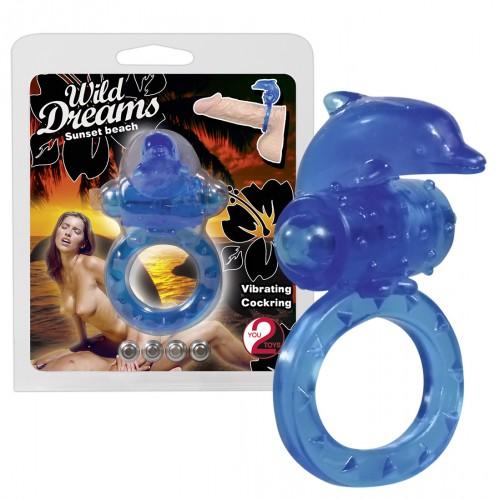 Wild Dreams krúžok na penis - modrý