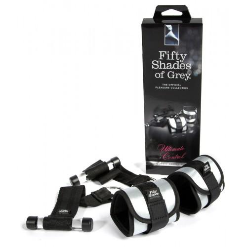 Päťdesiat odtieňov sivej - upevniteľné putá na zápästie (1 pár)