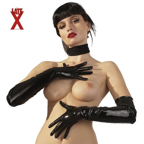 Latexové rukavice - čierne