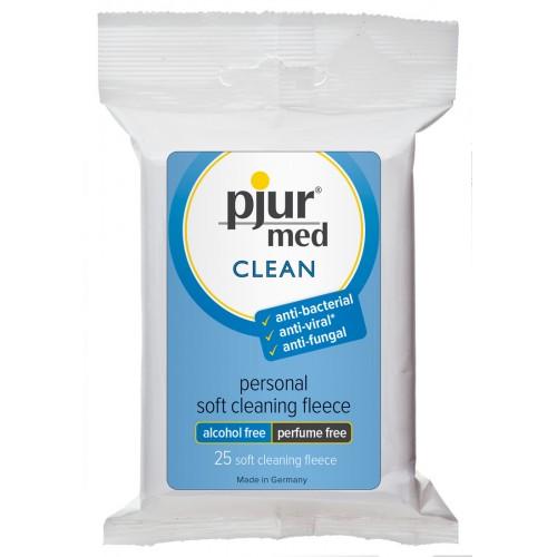 Pjur med Clean čistiace utierky (25 ks)