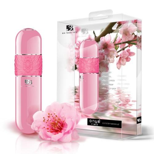 B3 Onyé Fleur - klasický tyčový vibrátor (ružový)