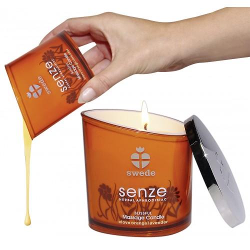 Masážna sviečka slasti (oranžový)